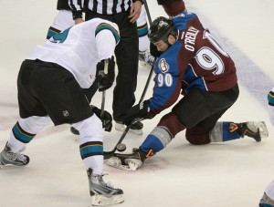 Avalanche takes on the Sharks